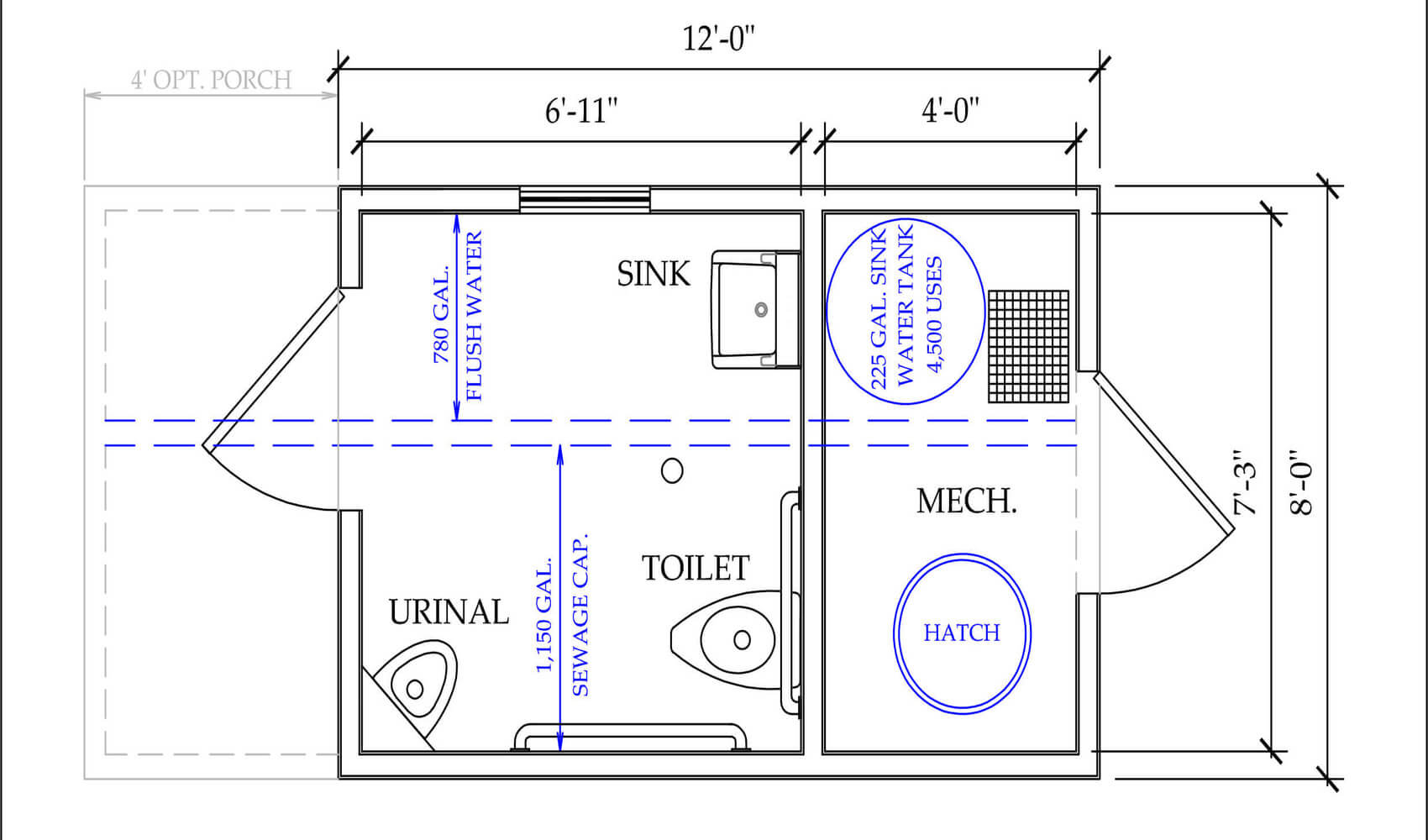 plans for Remote Restrooms