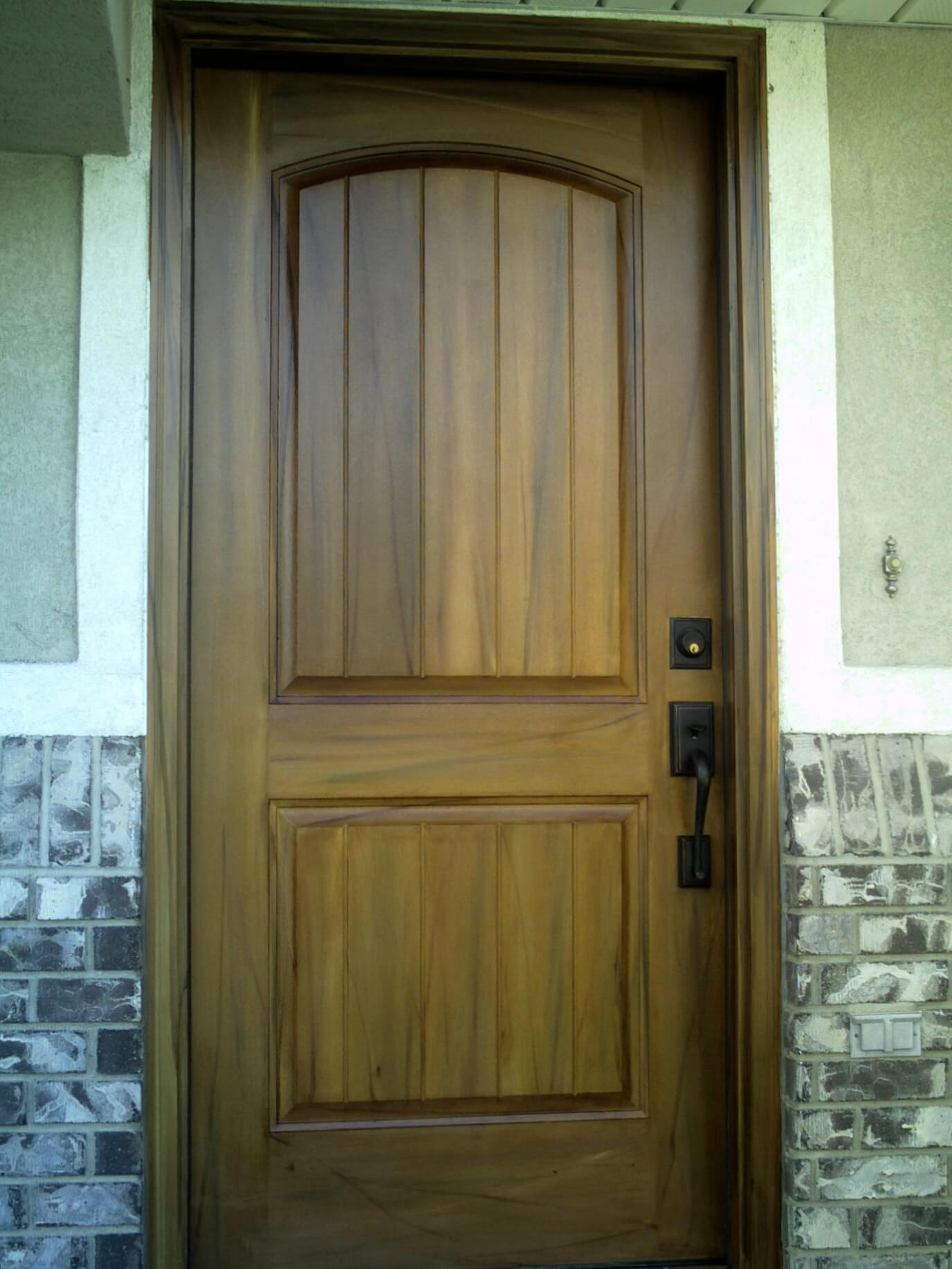 Interior customization is a breeze with green flush restrooms for Fiberglass entrance doors