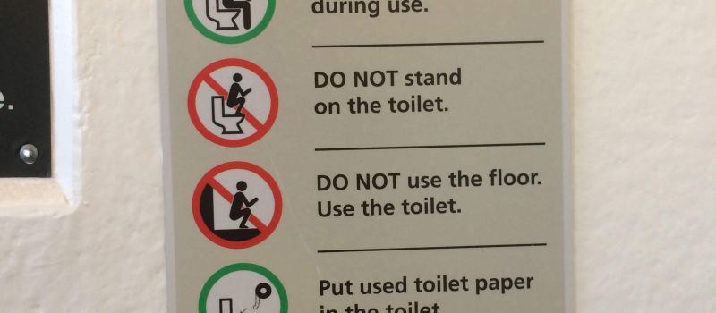 How Three Tourist Destinations Are Handling The Toilet Misuse Epidemic